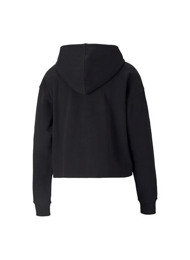 Puma Puma Kadın Kapüşonlu Siyah Gümüş Sweatshirt Siyah